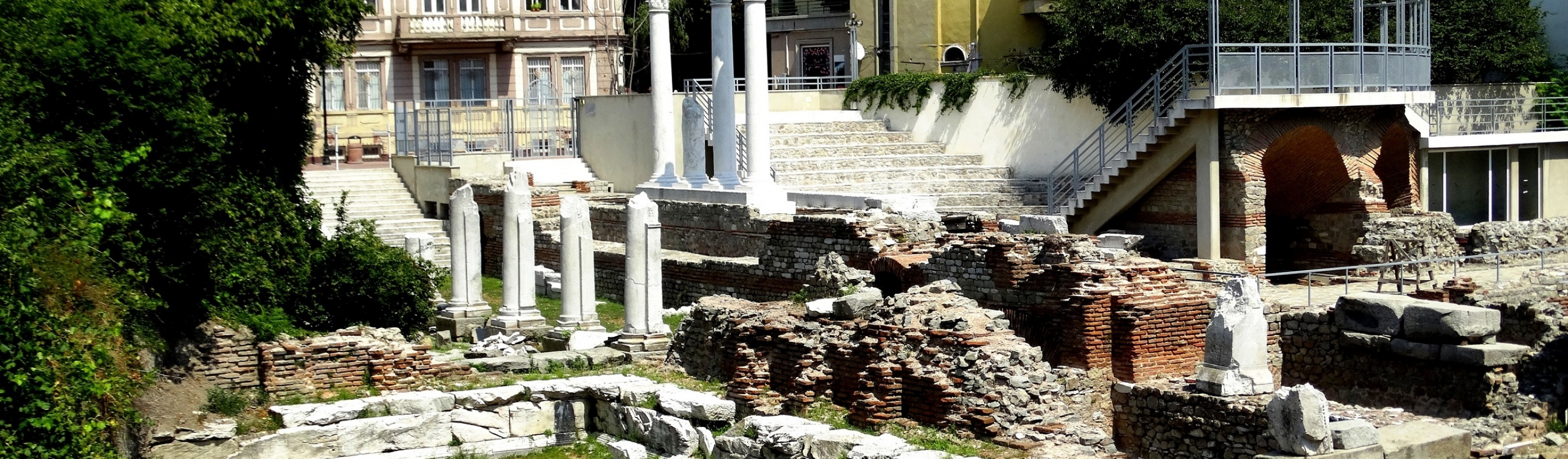 The Roman Forum and Odeon