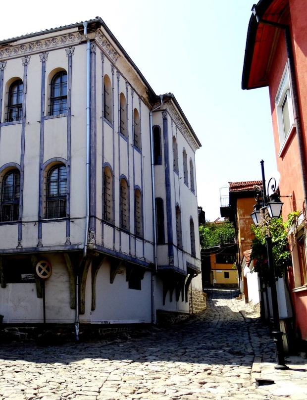 Houses in Old Plovdiv, overlooked by tourists